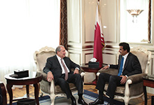 President Armen Sarkissian met with the Emir of Qatar Sheikh Tamim bin Hamad Al Thani