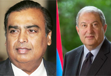 President Sarkissian met with the famous Indian businessman Mukesh Ambani