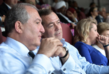 President Sarkissian watched the finals of the World Cup