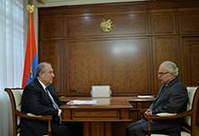 President Armen Sarkissian received Bedros Terzian