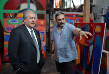 Նախագահ Սարգսյանն այցելել է մեծանուն  նկարիչ Մինաս Ավետիսյանի արվեստանոց
