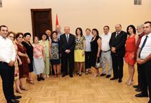 Նախագահը հանդիպել է ազգային փոքրամասնությունների կազմակերպությունների համակարգող խորհրդի անդամների հետ