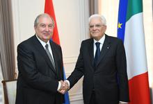 Հանրապետության նախագահի նստավայրում տեղի է ունեցել Հայաստանի եւ Իտալիայի նախագահների հանդիպումը