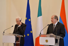 Հայաստանի եւ Իտալիայի նախագահները հանդես են եկել մամուլի համար  հայտարարություններով