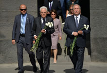 Presidents of Armenia and Italy paid tribute to the memory of the victims of the Armenian Genocide