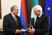 President Sarkissian received the highest award of the Italian Republic