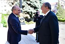 Նախագահ Արմեն Սարգսյանը հանդիպել է Բակո Սահակյանի հետ