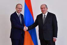 Президент Саркисян принял верительные грамоты новоназначенного посла Швейцарии в Армении