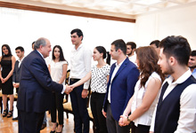 Гостями резиденции президента Республики была группа студентов ЕГУ