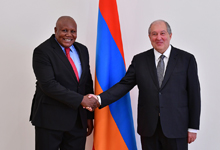 Newly appointed Ambassador of the Republic of Congo hands credentials to President Sarkissian