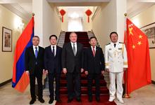 President visits PRC Embassy in Armenia