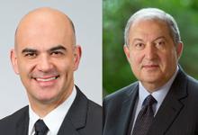 Անկախության տոնի առթիվ  նախագահ Արմեն Սարգսյանին  շնորհավորել է  Շվեյցարիայի Համադաշնության նախագահը