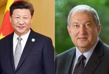 Անկախության տոնի առթիվ նախագահ Արմեն Սարգսյանին շնորհավորել է Չինաստանի նախագահը