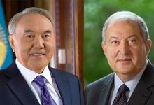 По случаю Праздника Независимости президента Армена Саркисяна поздравил президент Казахстана