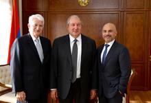 President Sarkissian hosts Gene Block and Eric Esrailian