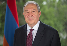 Congratulatory message of President Armen Sarkissian on the occasion of Armenia's Independence Day