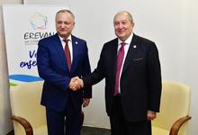 Հայաստանի և Մոլդովայի նախագահները կարևորել են երկկողմ հարաբերությունների խորացումը