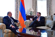 Նախագահ Արմեն Սարգսյանը հրաժեշտի հանդիպում է ունեցել Հայաստանում ԱՄՆ դեսպան Ռիչարդ Միլսի հետ