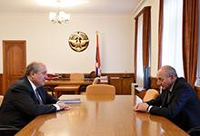 Նախագահ Արմեն Սարգսյանը հանդիպել է Արցախի նախագահ Բակո Սահակյանի հետ