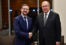 President Sarkissian in Minsk met with the OSCE Secretary General