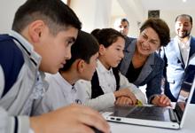 Госпожа Саркисян приняла участие в презентации новой образовательной электронной игры «Супер Давид против огня»
