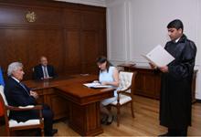 В резиденции Президента состоялась церемония приведения к присяге судьи Административного суда РА