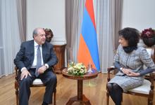 Հանրապետության նախագահ Արմեն Սարգսյանը հյուրընկալել է Աննա Հակոբյանին