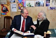 Սա Ձեր ապրած կյանքի գնահատականն է. նախագահ Սարգսյանը Երվանդ Մանարյանին հանձնել է Հայաստանի Հանրապետության ժողովրդական արտիստի կրծքանշանը