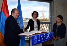 Президент считает желаемым участие ЮНЕСКО в охране и восстановлении культурно-исторических ценностей Гюмри