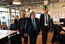 President Armen Sarkissian visited digital production unit of the THALES company