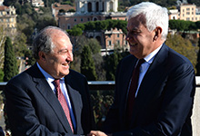 President Sarkissian discussed with the Director of the Italian Leonardo company cooperation opportunities