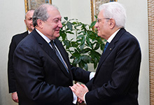 Working visit of the President Armen Sarkissian to the Italian Republic