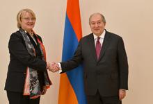 Հայաստանը և Լատվիան միևնույն արժեքները կրող բարեկամ երկրներ են. Հանրապետության նախագահին իր հավատարմագրեր է հանձնել Լատվիայի դեսպանը
