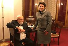 Տիկին Նունե Սարգսյանը Վարշավայում մասնակցել է կոմպոզիտոր Քշիշտոֆ Պենդերեցկու ծննդյան 85-ամյակին նվիրված հոբելյանական միջոցառումներին