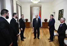 President awarded diplomats, who made a considerable contribution to the organization of the Summit of Francophonie, and medal winners of the World Weightlifting Championship