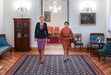 Mrs. Nouneh Sarkissian met with the spouse of the President of Poland