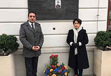 Супруга Президента Республики Нунэ Саркисян посетила «Армянский сквер» в Варшаве