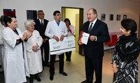 Նախագահ Սարգսյանի և Գերմանական Կարմիր խաչի նվիրատվությունների կտրոնները հանձնվել են Գյումրիի «Բեռլին» բժշկական կենտրոնին