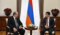 Նախագահն ընդունել է  Հայաստանում Ղազախստանի դեսպանին