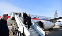 Delegation headed by President Sarkissian arrived to Georgia