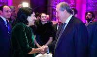 President Sarkissian participated at the official dinner hosted by the President of Georgia