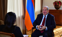President Armen Sarkissian gave an interview to the Indian WION TV (World is One News)