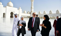 President visited the Sheikh Zayed Grand Mosque