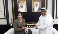 Mrs. Nouneh Sarkissian visited the Sharjah Institute for Heritage