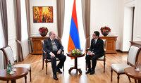 Նախագահին իր հավատարմագրերն է հանձնել Հայաստանում Թուրքմենստանի նորանշանակ դեսպան Մուհամեդգելդի Այազովը