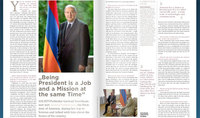 "Being President is a Job and a Mission at the same Time. President Armen Sarkissian's interview to ""SOCIETY"" Magazine"