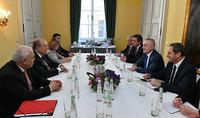 Նախագահ Արմեն Սարգսյանը հանդիպել է Ալբանիայի նախագահի հետ