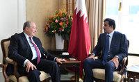 Նախագահ Արմեն Սարգսյանը հանդիպել է Կատարի էմիրի հետ