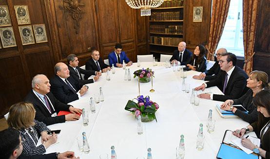 Հայ-սերբական հարաբերություններն ունեն զարգացման ներուժ. նախագահ Սարգսյանը հանդիպել է Սերբիայի նախագահի հետ
