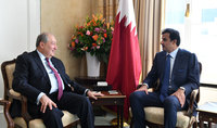 President of Armenia met with the Emir of Qatar